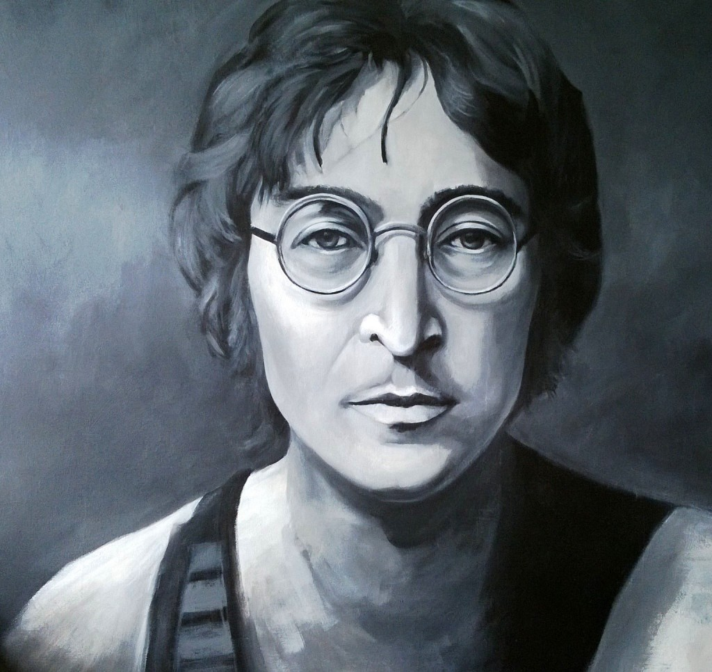 John Lennon, Acrylic on Canvas, 1m sq