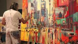 VOKA painting New York Scene