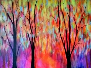 Laburnum Walk, Acrylic on Canvas, 100 x 60 cm