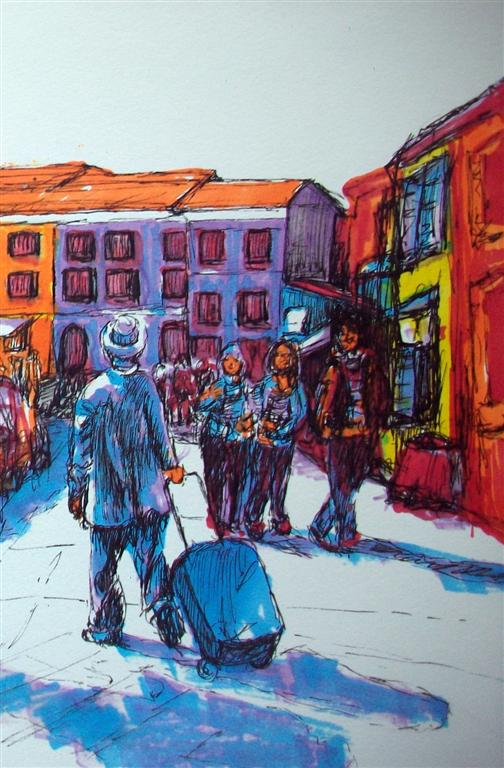 The traveller in Burano (Sketch)