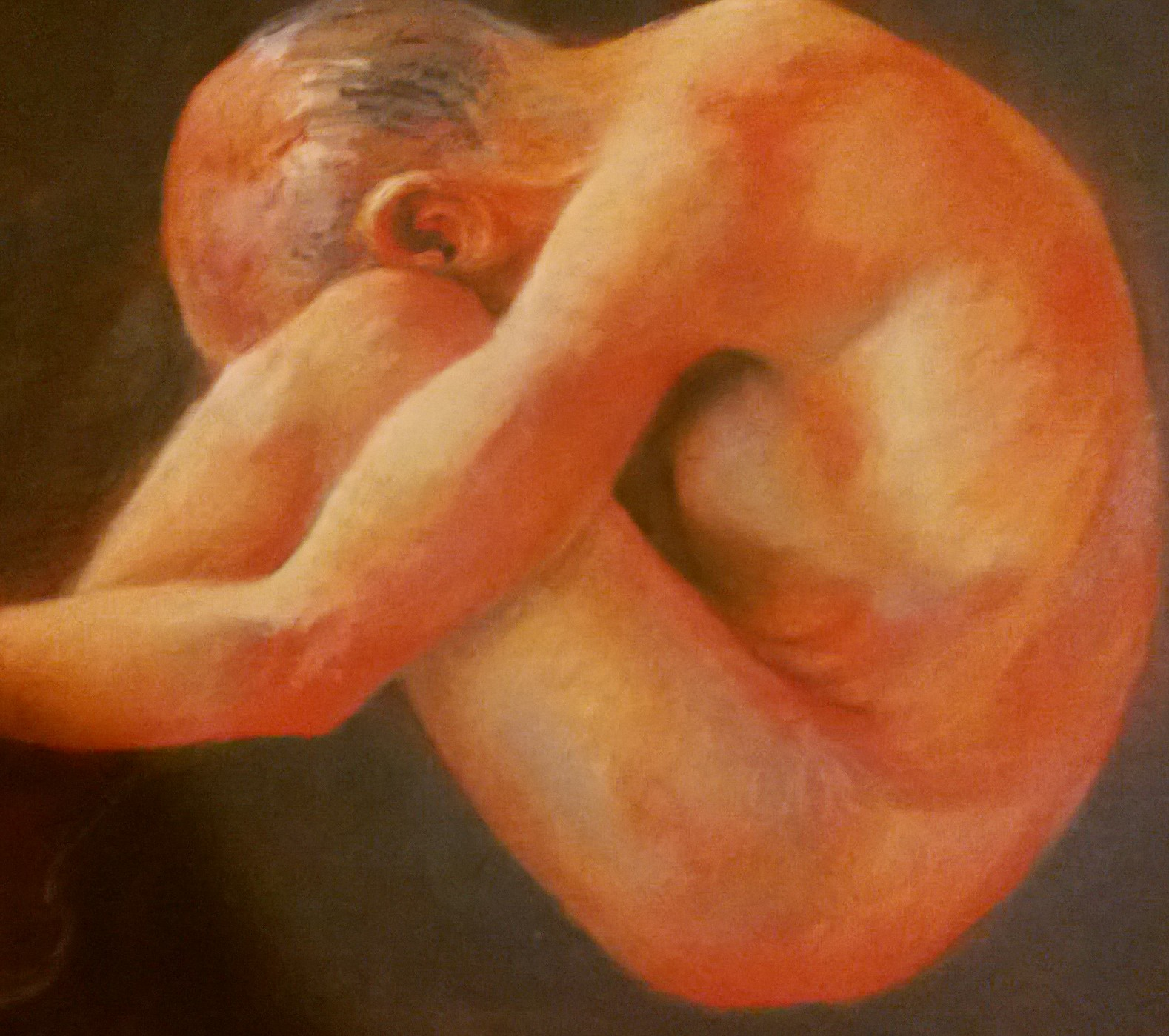 Life Study, Pastel on sugar paper, 42 x 42 cm Copyright @2014 Midge ACE