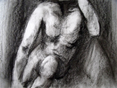 Male Nude Seated Study