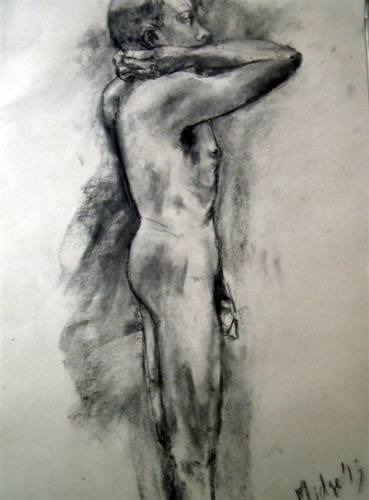 Male Nude - Side view Study