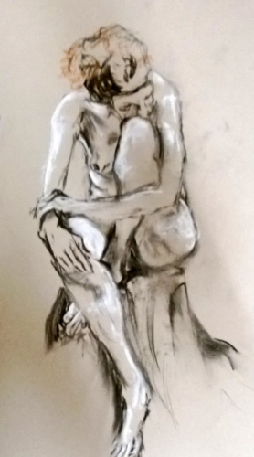 Crouched (from 2014 Figurative Art Class)