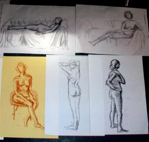 Charcoal sketches - various poses