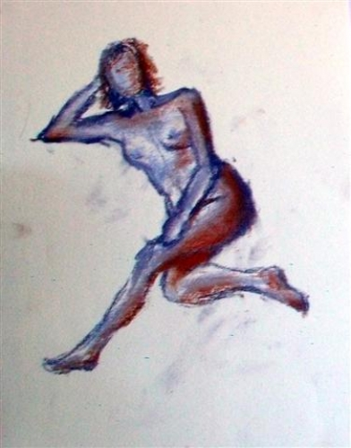 Charcoal sketches - sitting pose