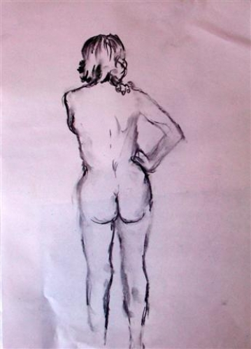 Charcoal sketches - standing pose