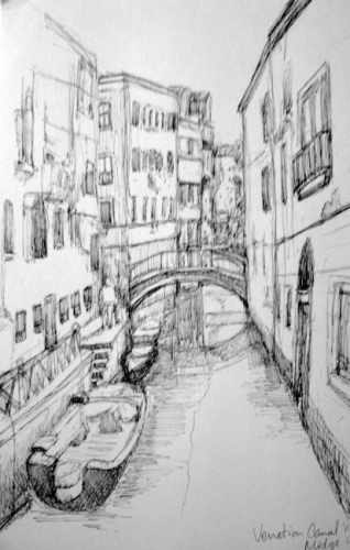 Venetian Canal Sketch